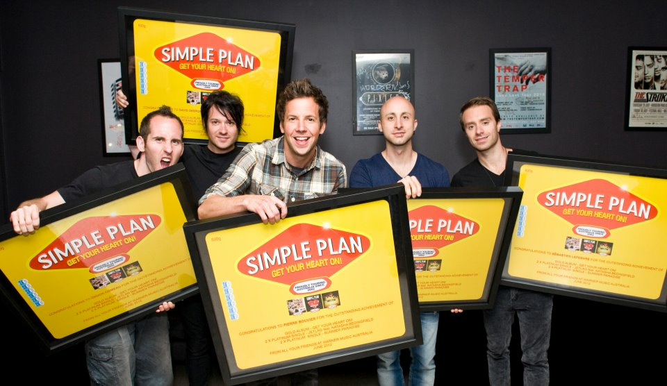 Earlier this month Simple Plan received an award from Warner Music ...