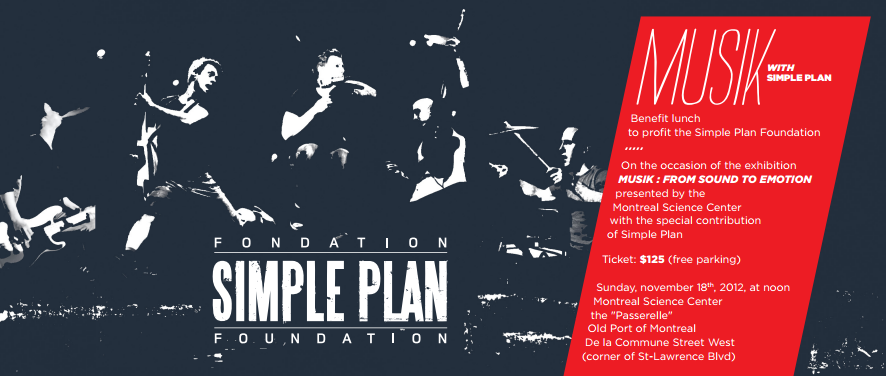 5th annual benefit event of simple plan foundation will be