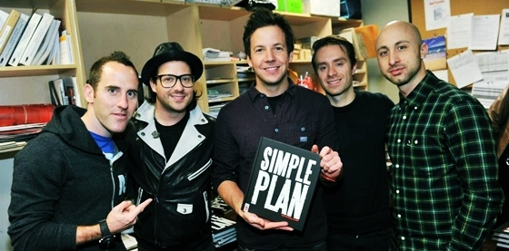 Simple Plan with the book